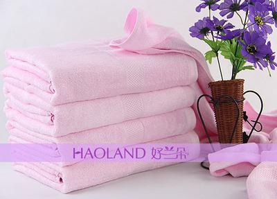 竹纤维缎浪浴巾